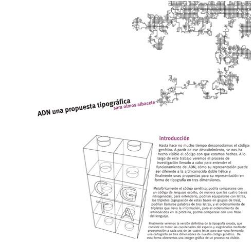 Sara Olmos - DNA Typeface