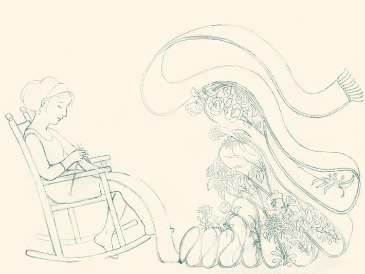Sara Olmos - Knitting the spring draft
