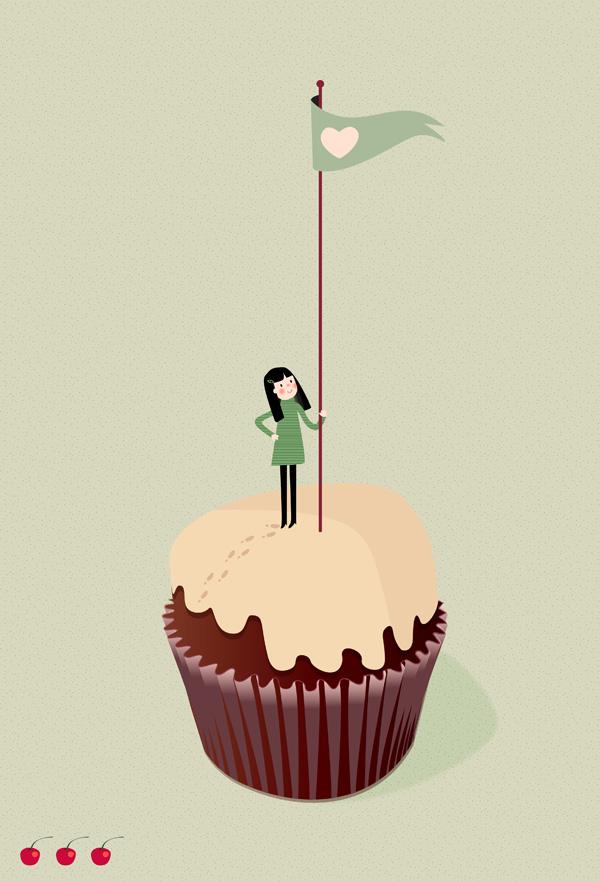 Sara Olmos - On the summit of the cupcake
